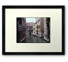 Venice - Little Canal Framed Print