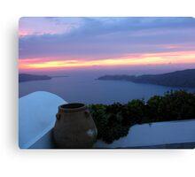 Grecian Blue Sunset Canvas Print