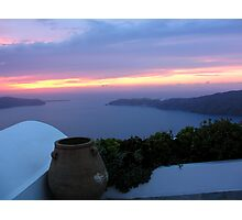 Grecian Blue Sunset Photographic Print