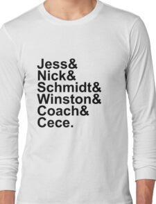 New Girl Name Design- Black Text Long Sleeve T-Shirt