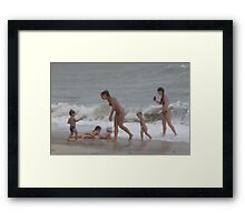 Lil kid's SURF Playing Framed Print