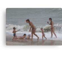 Lil kid's SURF Playing Canvas Print