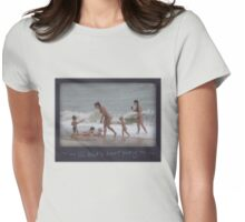 Lil kid's SURF Playing Womens Fitted T-Shirt
