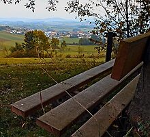 Bench with nature and scenery   landscape photography by Patrick Jobst