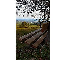 Bench with nature and scenery | landscape photography Photographic Print