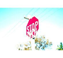 disfigured stop sign Photographic Print