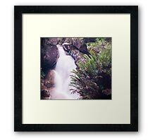 Lady Bath Falls Mt Buffalo Framed Print