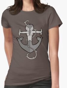 Mermaid Anchor in Gray T-Shirt