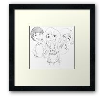 PENCIL ART - Never Be Ashamed, Afraid, Or Intimidated By Our Sexual Gender Or Our Choice Of Sexual Preference  Framed Print