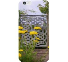 Yellow Tansy and a Gate iPhone Case/Skin