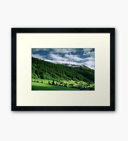 Morning snow, Gargellen, Austria Framed Print
