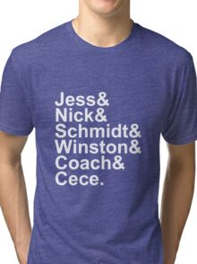 New Girl Name Design- White Text Tri-blend T-Shirt