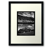 Morning snow, Montafon, Austria Framed Print