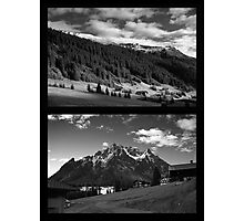 Morning snow, Montafon, Austria Photographic Print