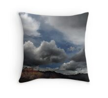 Bridge Mountain Cloudscape Throw Pillow