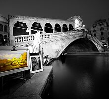 Rialto Bridge by Night  by Rob Hawkins