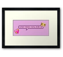 Cutest Trash You'll Ever See Pixel Chat Bubble Framed Print