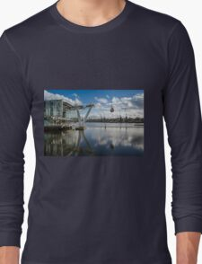 Thames Cable Car over London's Docklands Long Sleeve T-Shirt