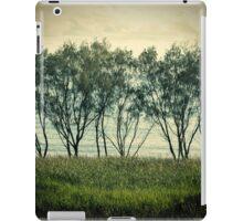 trees near the surf break lennox head iPad Case/Skin
