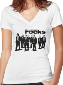 BBC Science ROCKS Women's Fitted V-Neck T-Shirt