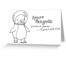 space penguin Greeting Card