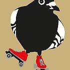 Roller skating pigeon by MooieVogel
