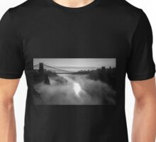 Clifton Suspension Bridge, Bristol B&W Unisex T-Shirt