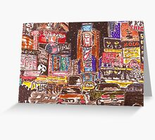 Times Square Broadway New York City Greeting Card