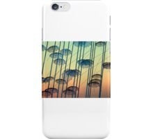 Umbrellas sculpture iPhone Case/Skin