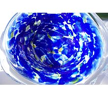 Blue bowl Photographic Print
