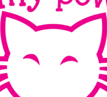You are NO MATCH for my powers of CUTENESS! kitty cat Sticker