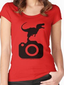 Photography - Dinosaur TShirt Women's Fitted Scoop T-Shirt