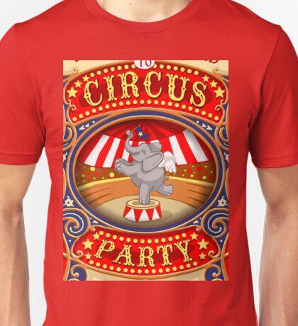 Elephant Circus Party  Unisex T-Shirt