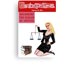 Boobapalooza: Balancing the Scales of Justice Canvas Print