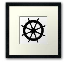 Steering Wheel Framed Print