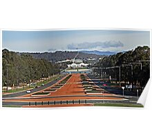 Anzac Parade - Canberra Poster