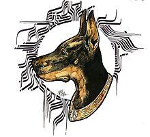 - Black Dog -  Photographic Print