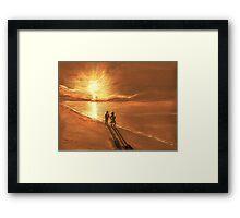 On Golden Sands Framed Print