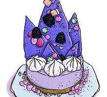 Katherine Sabbath Purple Mountain Cake by HungryDesigns