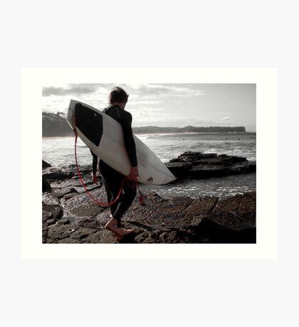 Winter Surfers Art Print