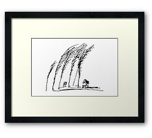 Trees and House Framed Print
