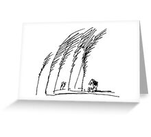 Trees and House Greeting Card