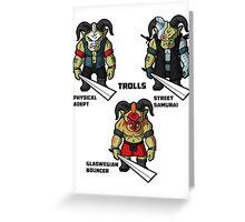 The Trolls Greeting Card