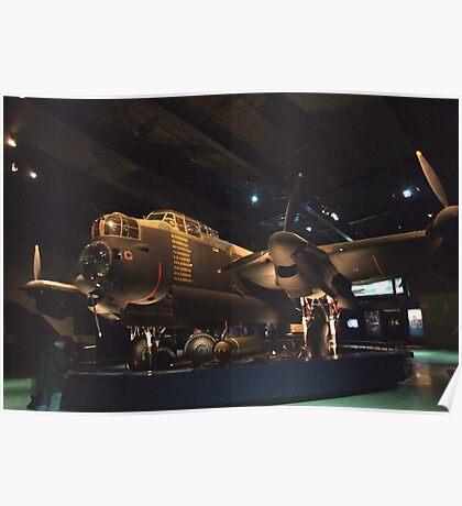 Lancaster Bomber- War Memorial Canberra Poster