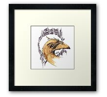 bird of paradice - coffee and ink - Framed Print