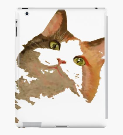 I'm All Ears - Cute Calico Cat Portrait iPad Case/Skin
