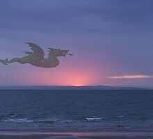 Dragon over Conwy estuary by ccrcats