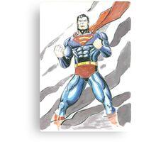 Superman Watercolor Canvas Print