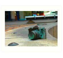 Bronze Nikon SLR Art Print