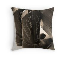Grandpa's Boots Throw Pillow